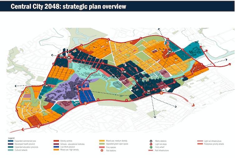 Figure 2: An overview of Central City 2048. Image: Jamie van Geldermalsen, Mile Ilija Barbaric, Rao Umair Afzaal, Kun Fan, Author provided