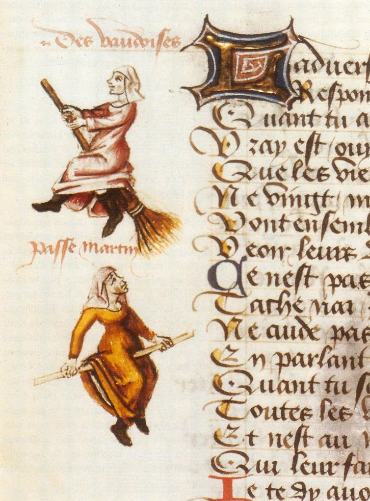 The evolution of the medieval witch – and why she's usually