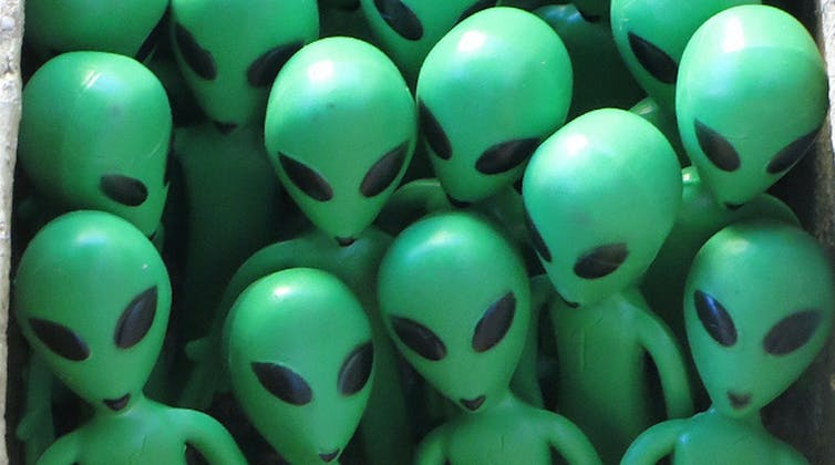 Baldness, one of the usual characteristics of extraterrestrials as we represent them