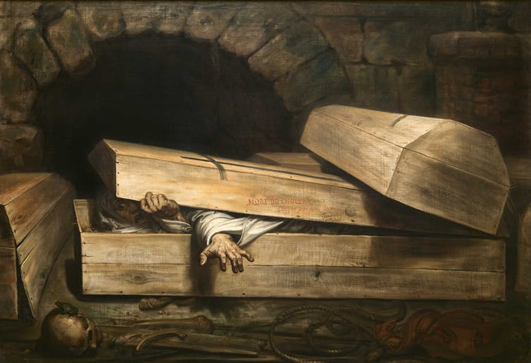 The Premature Burial. Antoine Wiertz (1854)