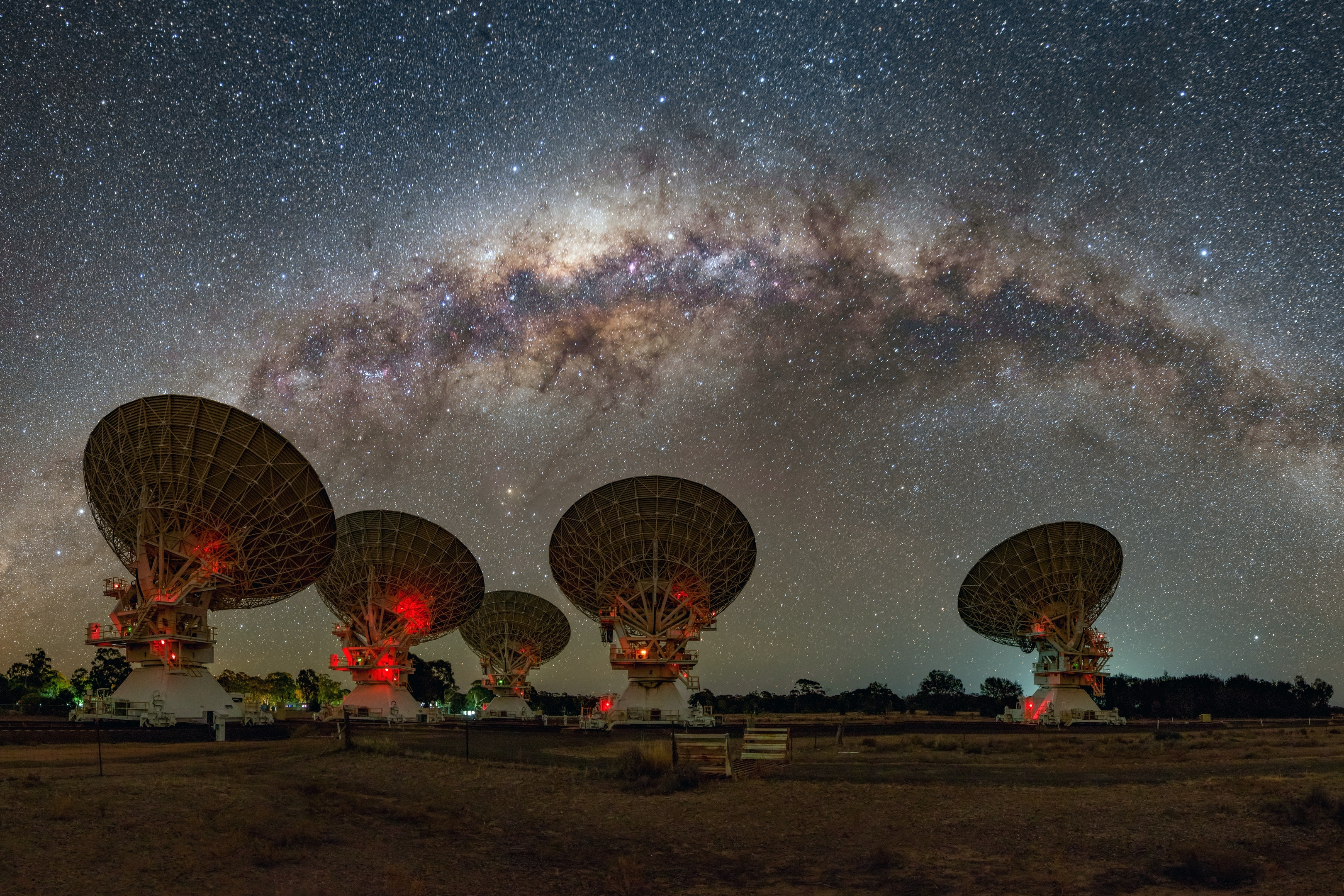 The Australia Telescope Compact Array (ATCA) used in the follow-up observations. CSIRO, Author provided