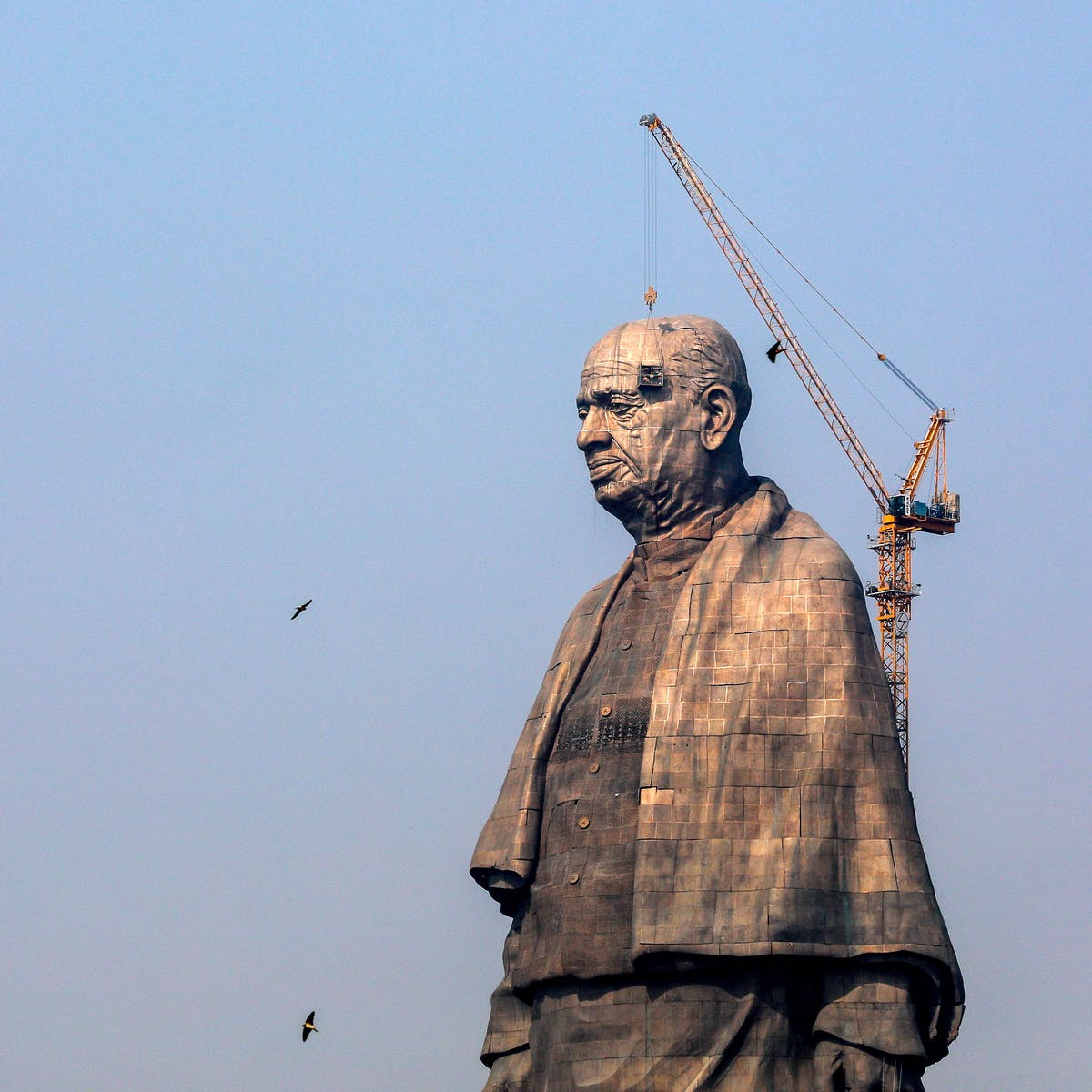 Image result for The statue under construction in January 2018
