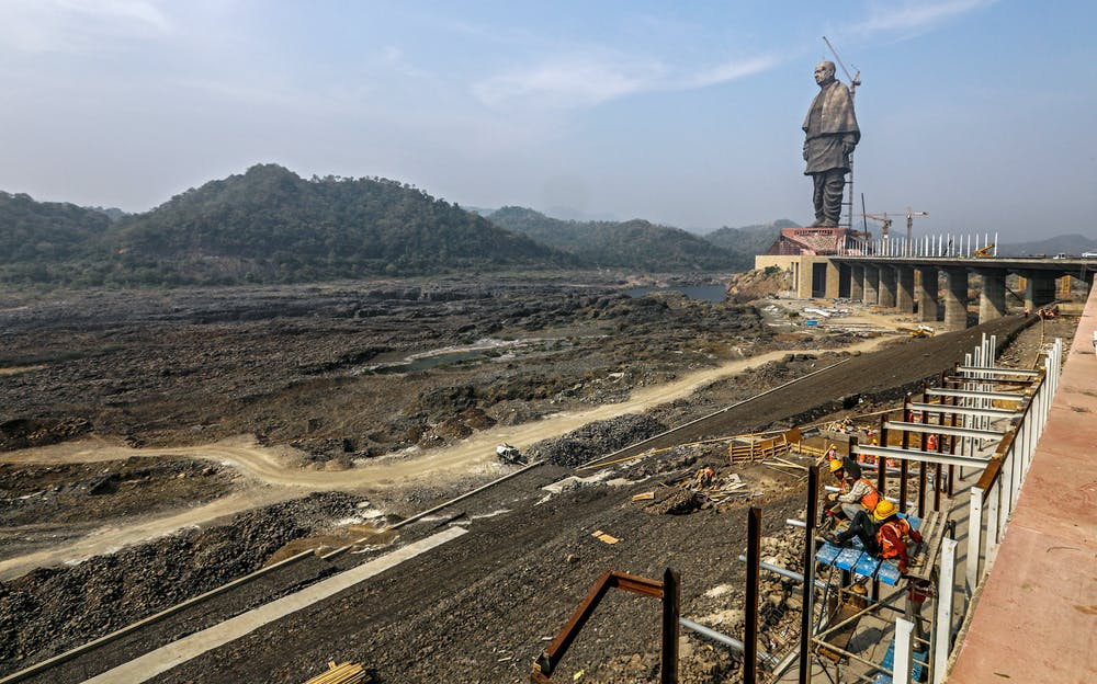 India unveils the world's tallest statue, celebrating