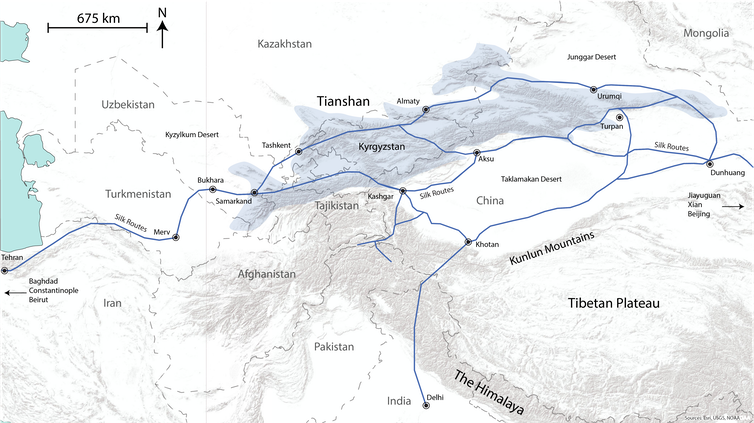 How Eurasia\'s Tianshan mountains set a stage that changed ...