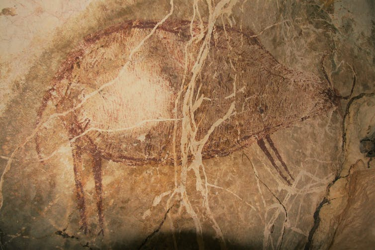 is the world's oldest rock art in Southeast Asia?