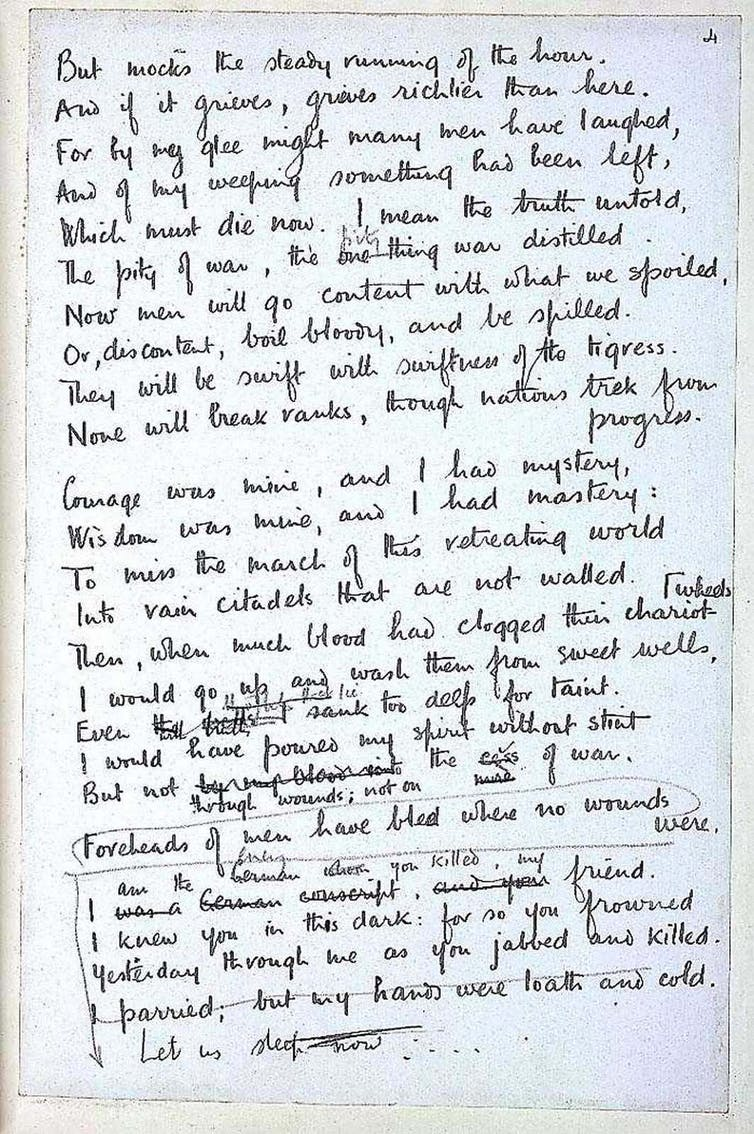 Wilfred Owen 100 Years On Poet Gave Voice To A Generation