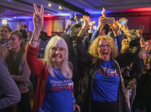 Democrats take House at US midterm elections, but Republicans keep Senate; Labor well ahead in Victoria