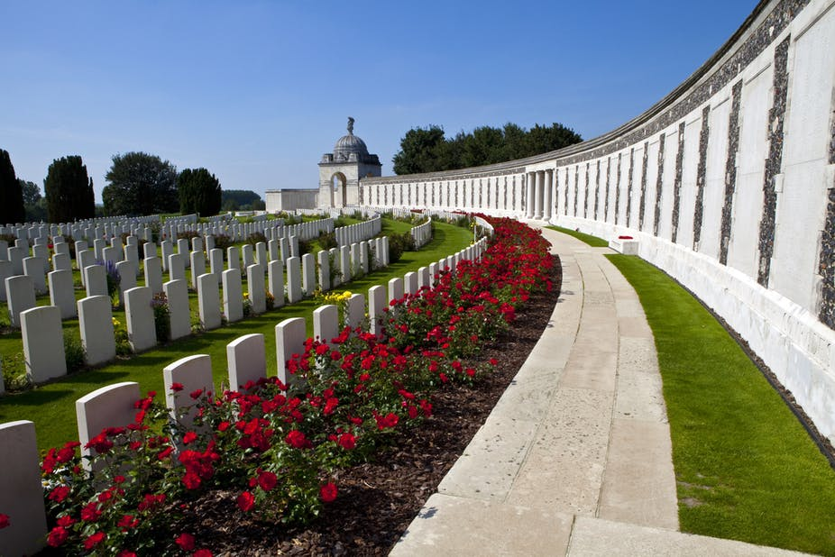 Commonwealth war cemetery at Ypres, Belgium. chrisdorney via Shutterstock
