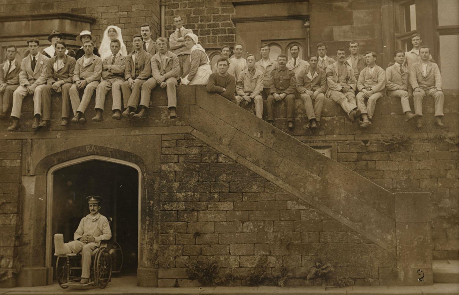 Longshaw Lodge Convalescent Home for Wounded Soldiers, Grindleford, near Sheffield. Credit: Tyne & Wear Archives & Museums