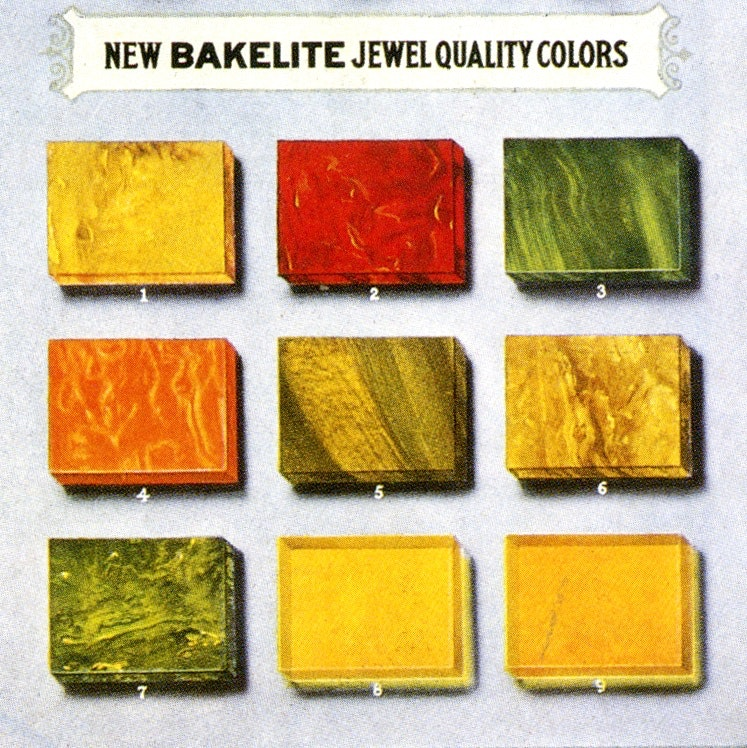 Bakelite colour chart, 1924