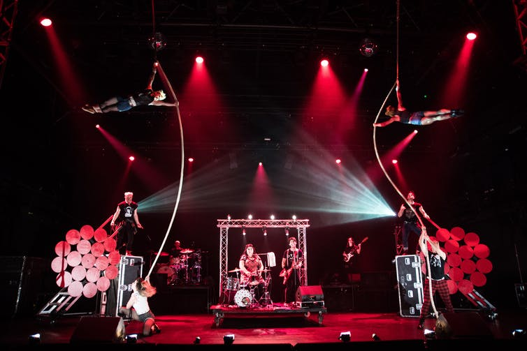 Rock Bang is a highly charged fusion of music, theatre, and circus