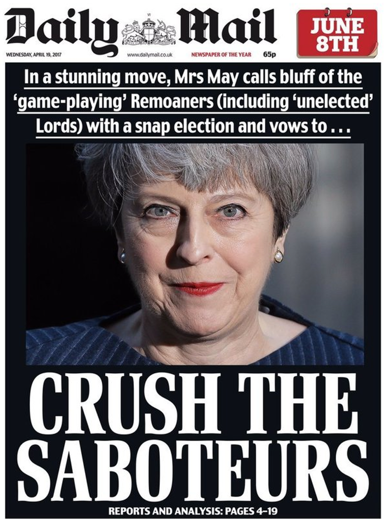 Daily Mail: new editor and new 'enemies of the people'