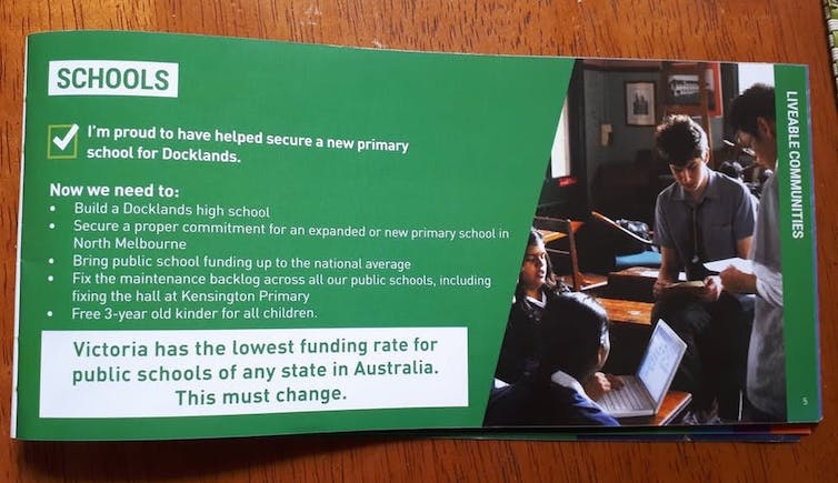 does Victoria have Australia's lowest rate of public school funding?