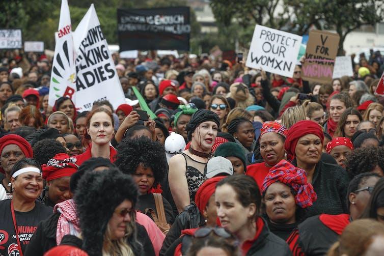 Female led march against women based violence