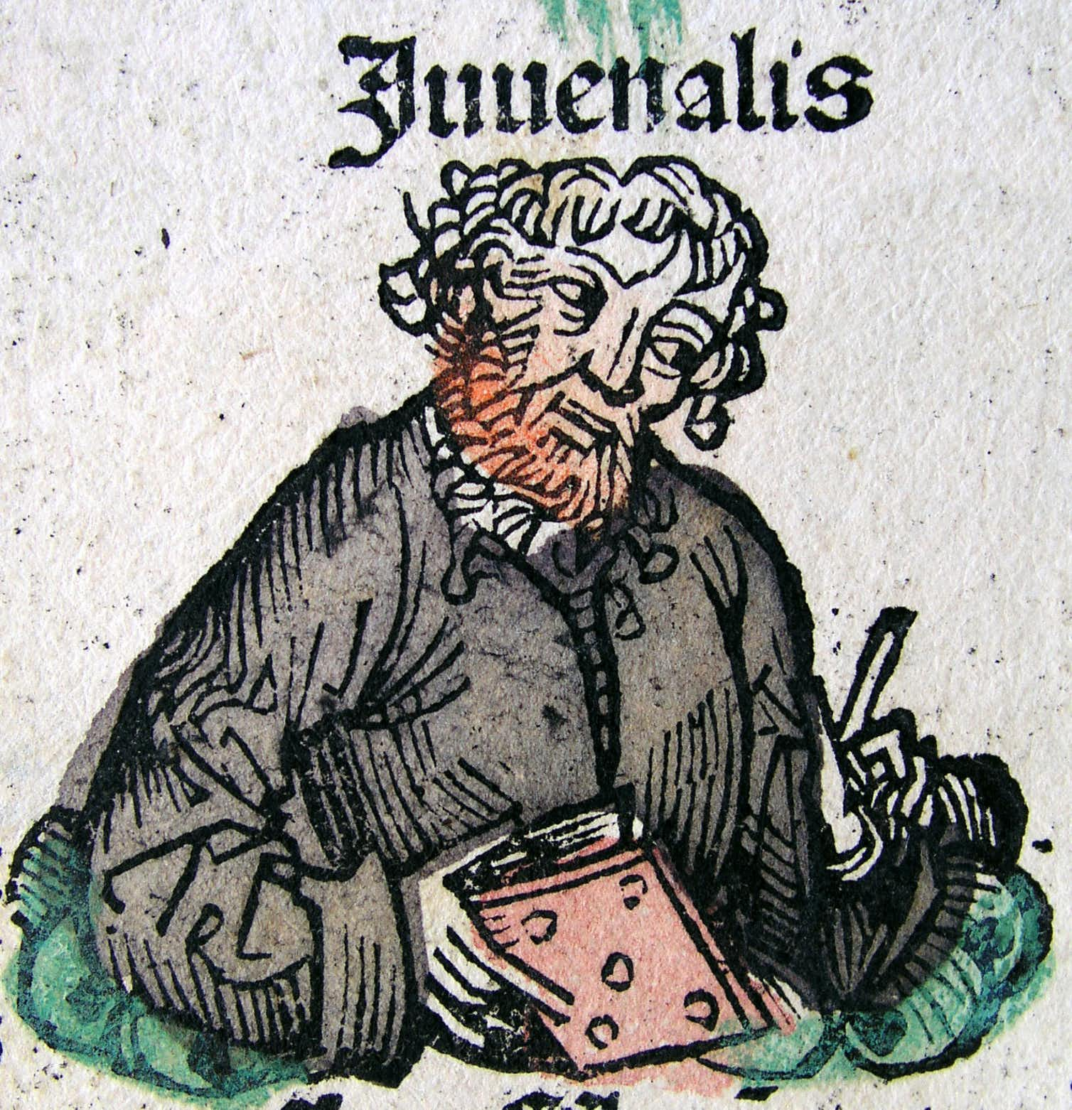 A depiction of Juvenal in the Nuremberg Chronicle, late 1400s | Image credit: Wikimedia Commons
