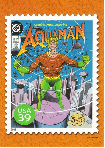 Aquaman comic book depiction. Courtesy Crayolamom/flickr.