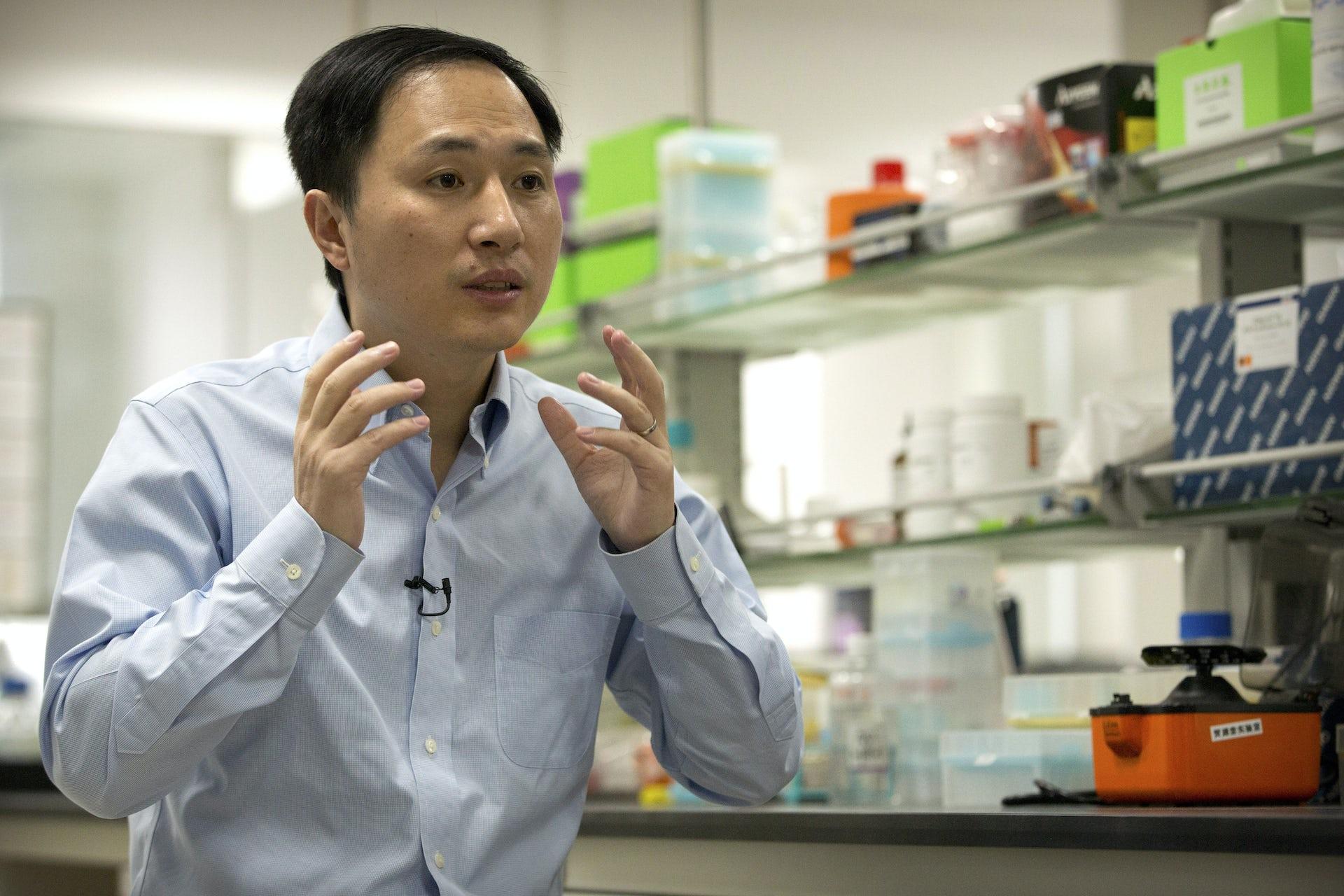 He Jiankui has a lot to explain going forward. AP Photo/Mark Schiefelbein