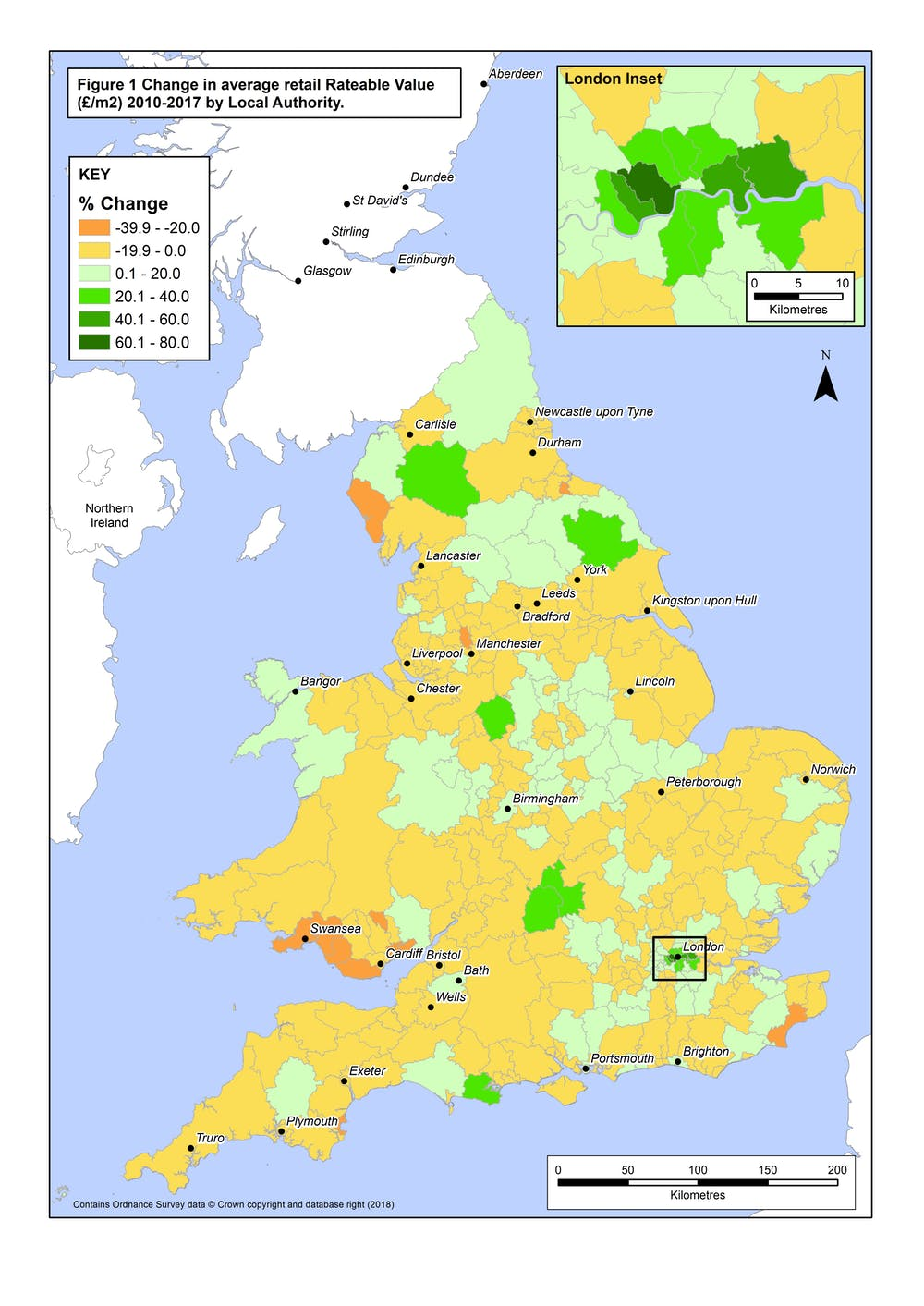Map Of England 200.Retail Decline In Maps England And Wales Lose 43m Square Metres Of