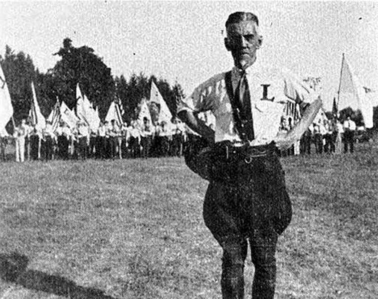 William Dudley Pelley and members of the Silver Legion of America. Public domain