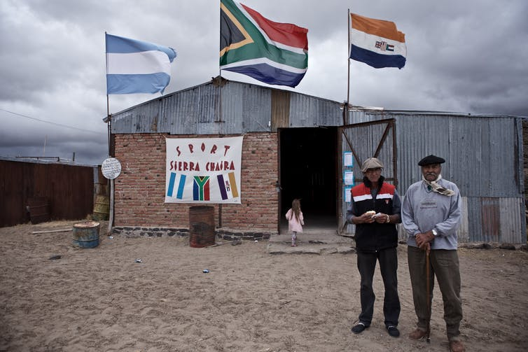 Afrikaner descendants representing Argentina, South Africa today and the country's old flag. Richard Finn Gregory / GOODWORK