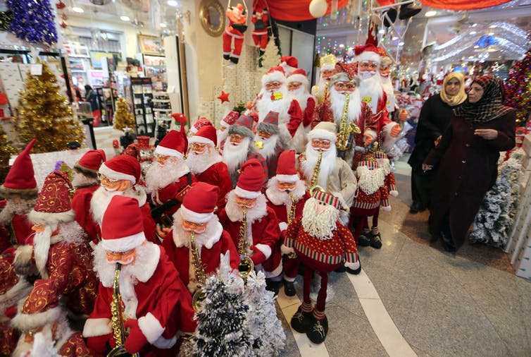 Yes, retailers exploit Christmas, but their decorations still evoke religious spirit