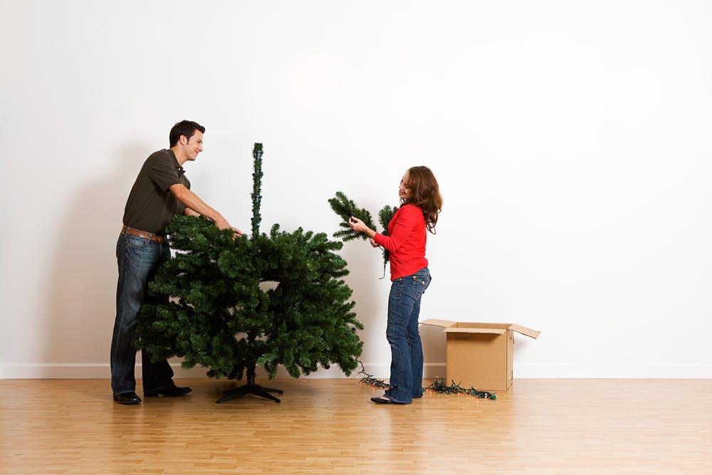 Don't stress about what kind of Christmas tree to buy, but