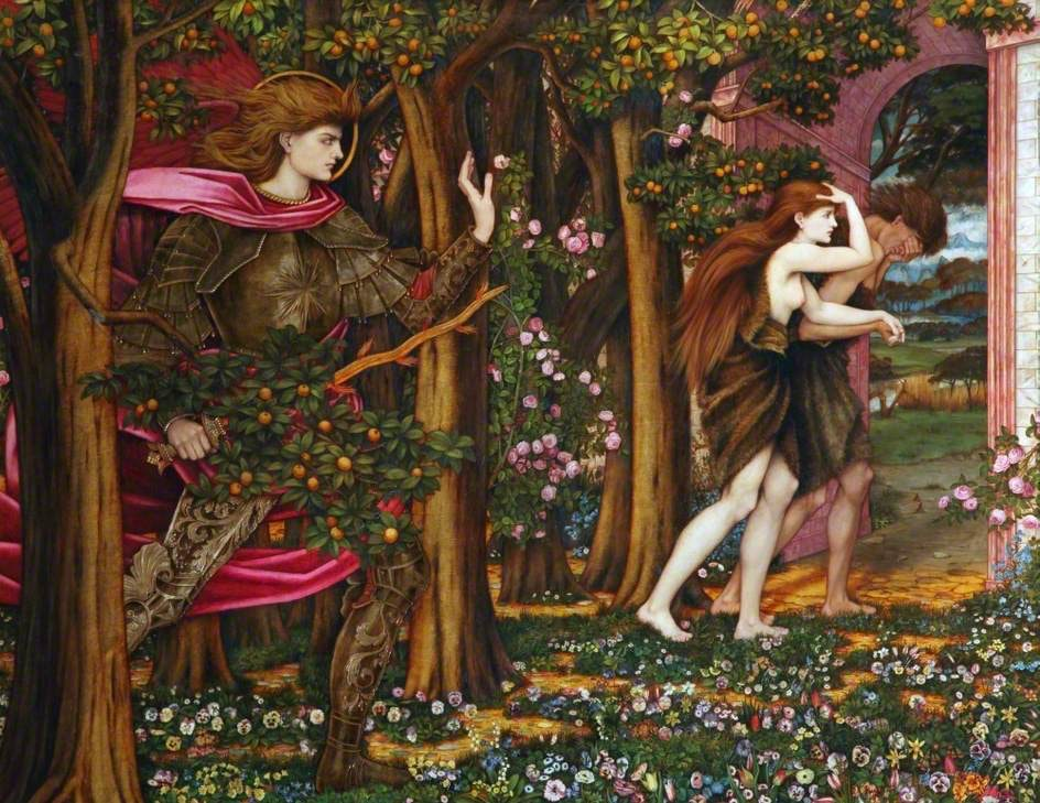 John Roddam Spencer Stanhope, The Expulsion from Eden, 1900