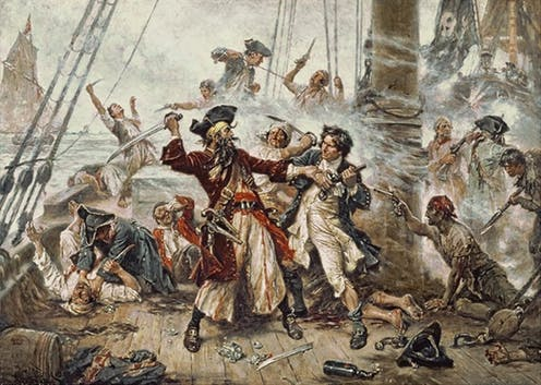 Blackbeard: an early international criminal.