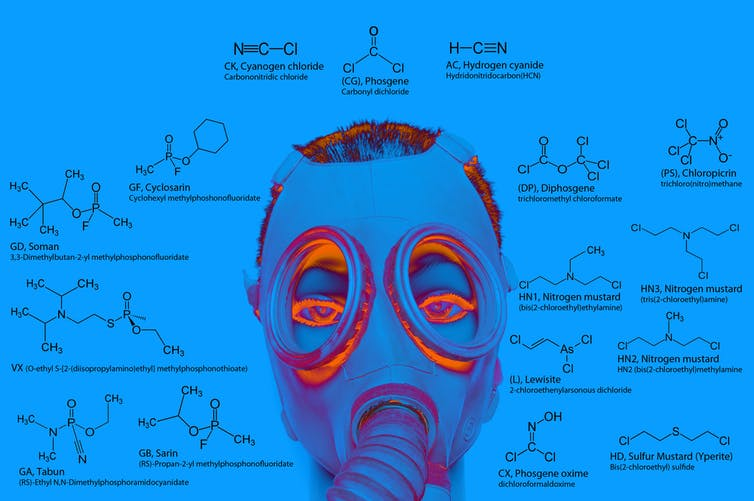 Nerve agents contain phosphorus