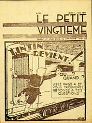 Le Petit Vingtième in May 1930, celebrating Tintin's safe return from his first adventure in the Soviet Union. Wikimedia Commons