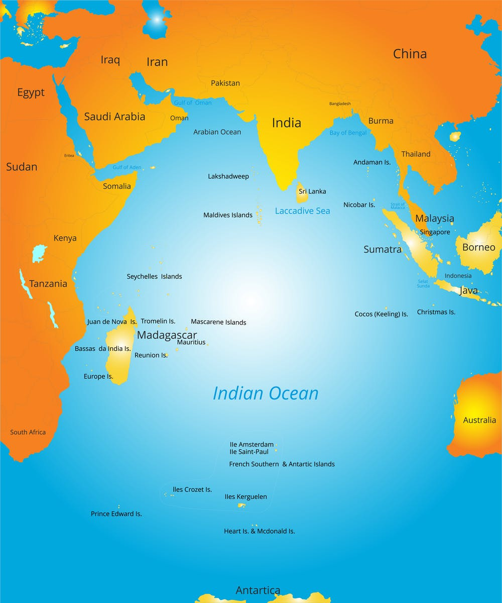 Indian Ocean Seychelles Map, The Countries In The Indian Ocean Region Host A Wide Variety Of Races Cultures And Religions From Shutterstock Com, Indian Ocean Seychelles Map