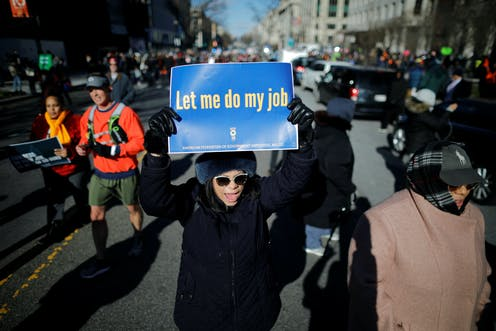 Who are the federal workers affected by the shutdown? 5