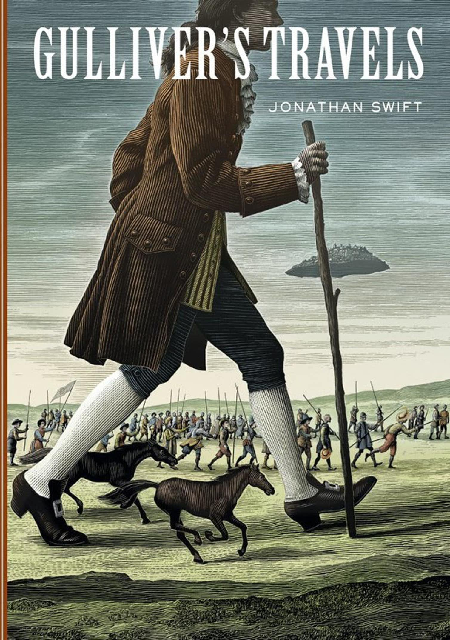Jonathan Swift's Gulliver's Travels as republished by Sterling Publishing (Illustration by Scott McKowen). Sterling Classics