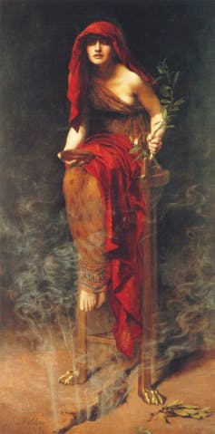 the priestess Pythia at the Delphic Oracle, who spoke truth to power