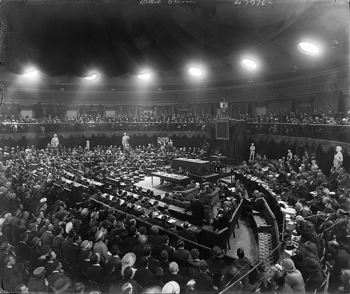 January 1919: the Irish Republic, the League of Nations and a new world order