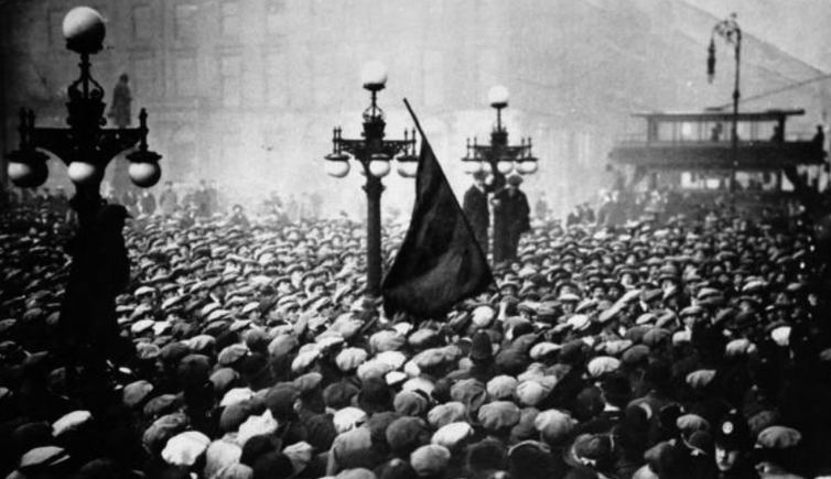 george square during the 1919 workers uprising