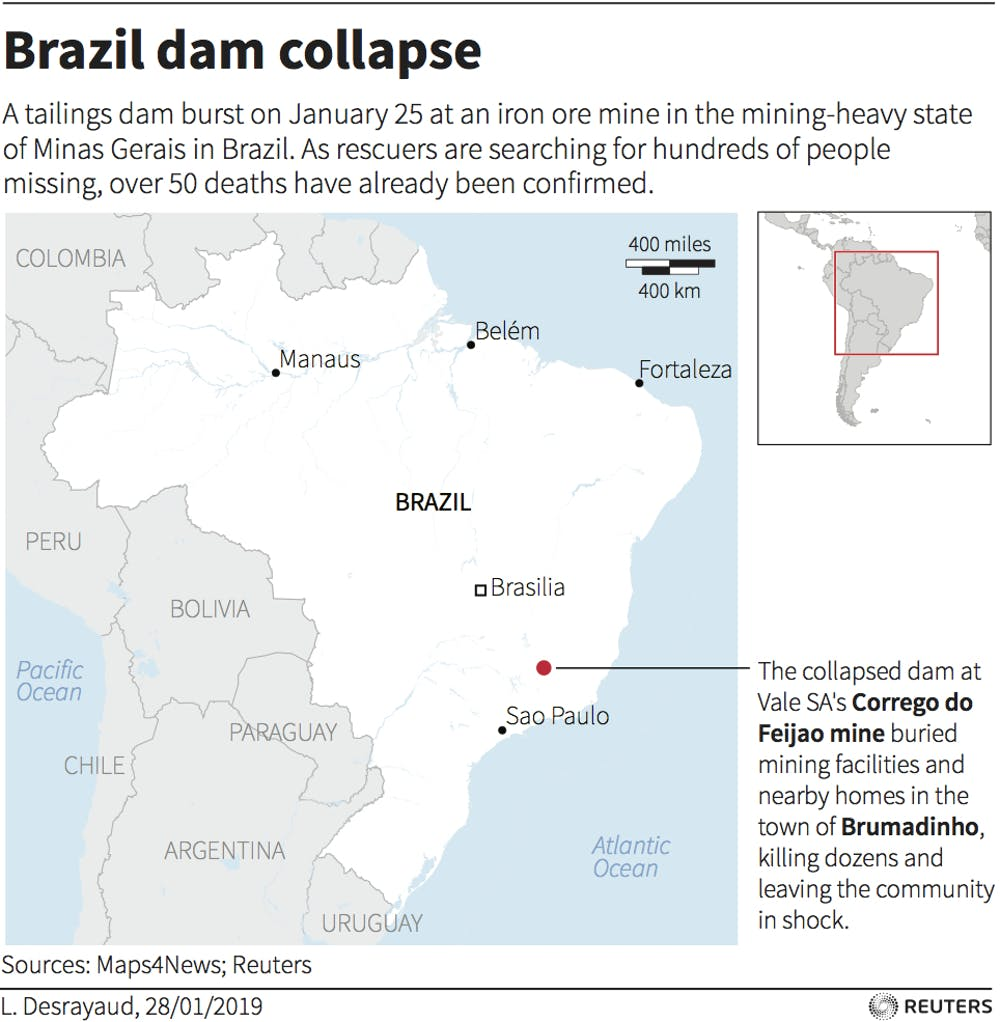 Dam collapse at Brazilian mine exposes grave safety problems