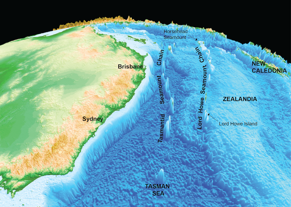 Australia Underwater Map.How We Traced The Underwater Volcanic Ancestry Of Lord Howe Island