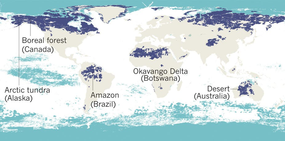Australia Map In World.Five Maps That Reveal The World S Remaining Wilderness