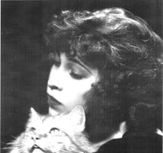 Tarpe Mills with her beloved Persian cat.