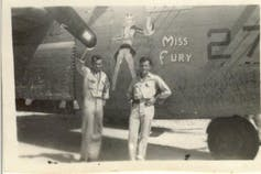 A WW2 plane featuring an image of Miss Fury.