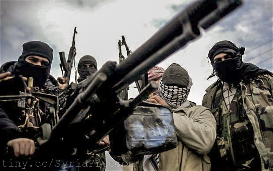 is it legal to supply arms to syrian rebels