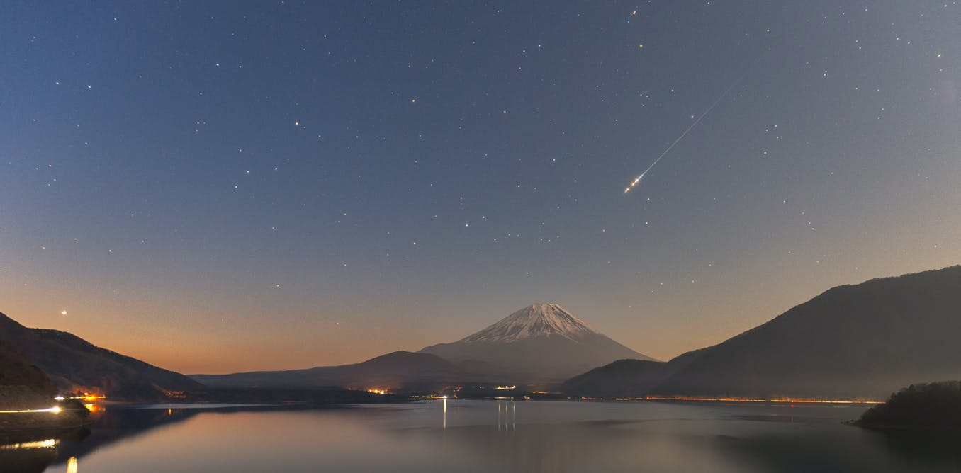 Curious Kids: what makes a shooting star fall?