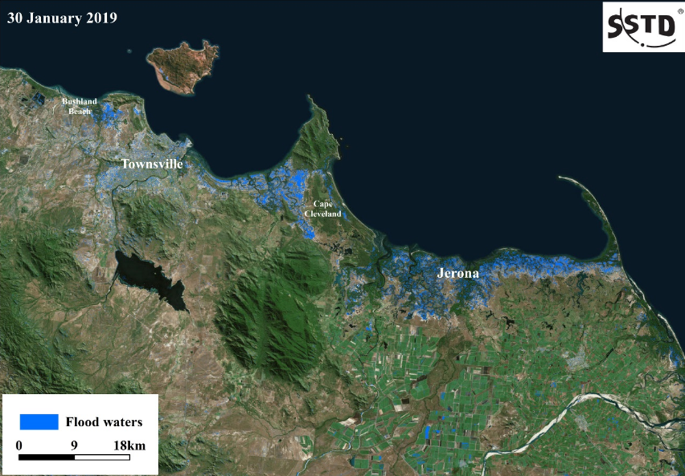 Map Of Australia Radar.Queensland S Floods Are So Huge The Only Way To Track Them Is From Space
