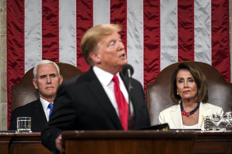 Nancy Pelosi was the one to watch. EPA/Doug Mills