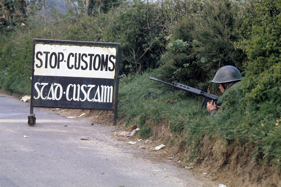 The Irish border in 1974. PA Wire
