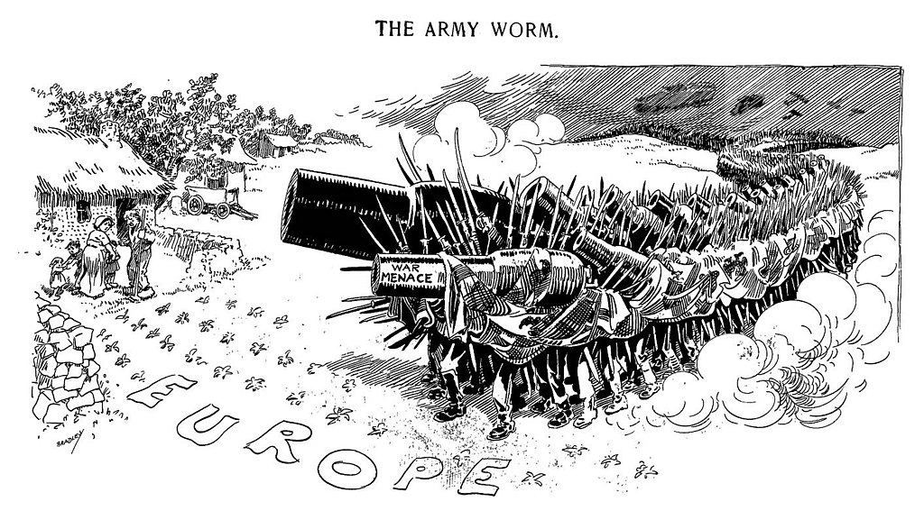 A cartoon published in the Chicago Daily News in 1914.