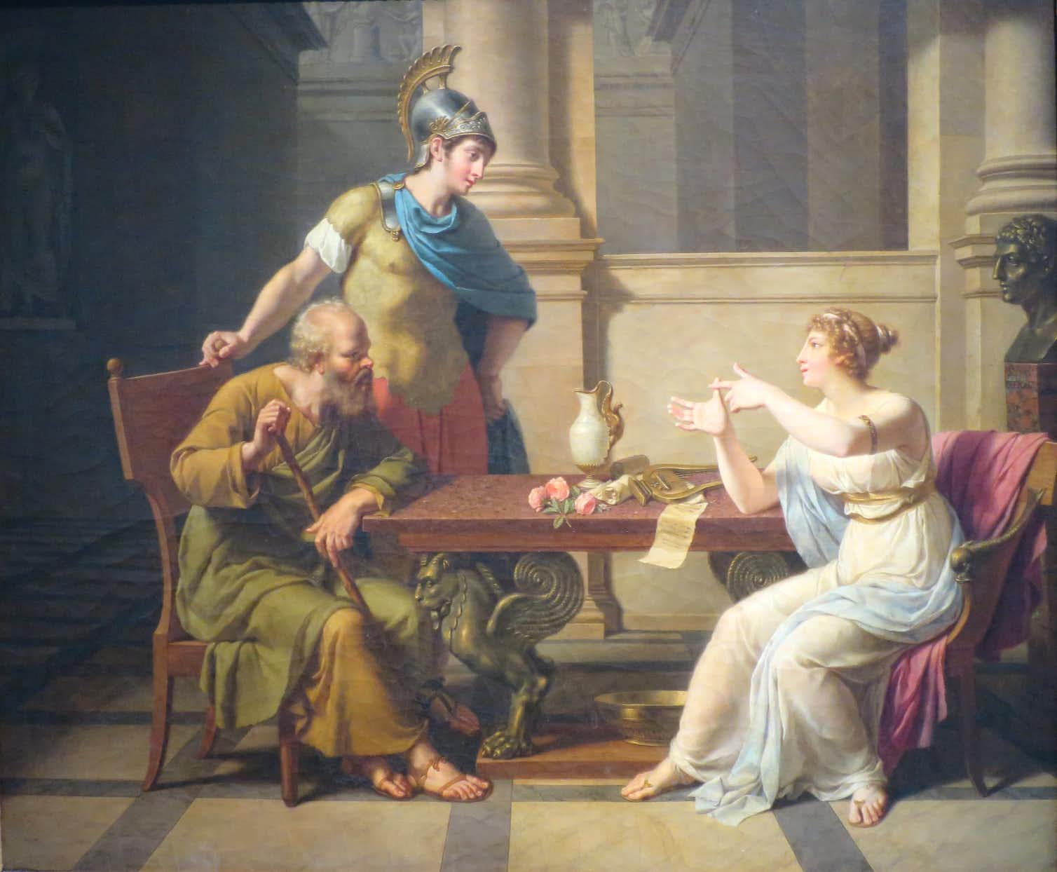 The Debate of Socrates and Aspasia, c. 1800. Credit: Wikimedia Commons