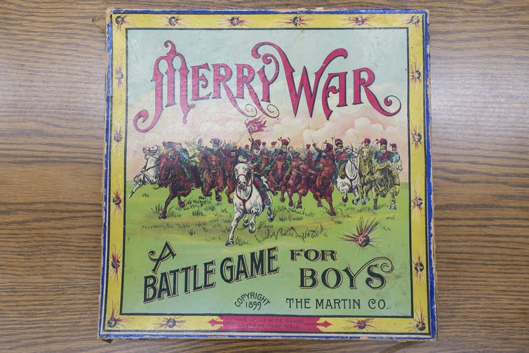 Merry War: A Battle Game for Boys (1899) has U.S. and Filipino soldiers battle against one another.