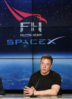 musk spacex falcon rocket conference